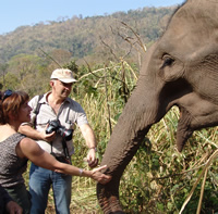 Photo from Joyce and Petter visit to Thailand  February 2006. (©ElephantVoices)