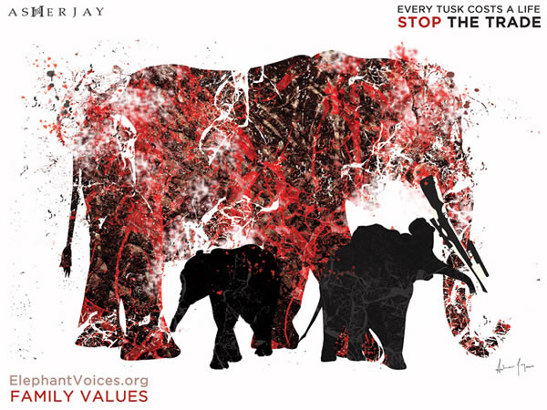 EVERY TUSK COSTS A LIFE - CAMPAIGN ARTWORK: STOP THE TRADE