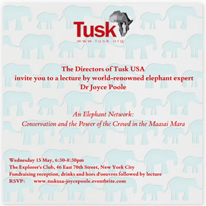 Join us at reception & lecture at Explorers Club, New York, 15th May!