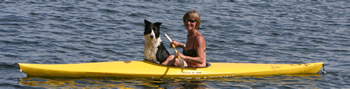 Malita and Joyce kayaking
