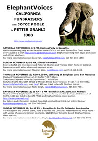 Event  overview ElephantVoices in California Nov. 2008