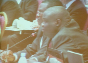 KWS' Patrick Omondi during CoP15 intervention