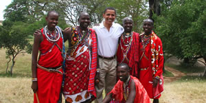 Barack Obama visits Basecamp Masai Mara during trip to Kenya, due to its commitment to responsible tourism and the local community. BMM has won several international awards, and is rated as the best eco-tourist hotel in Kenya. (©Basecamp Masai Mara, www.BasecampExplorer.com)