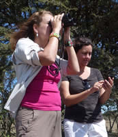 Ana Zinger and Junia Machado, visitors and Mara EleApp users from Brazil. (©ElephantVoices)