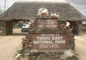 Sala entrance Tsavo East. (©ElephantVoices)